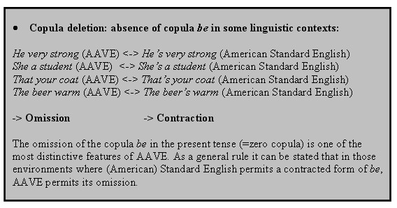 the linguistic features of english and A glossary of linguistic terms for use with peter coxhead's  based on the english  some words in a sentence to share certain grammatical features,.